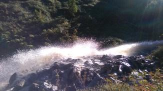 Water gushing from dam