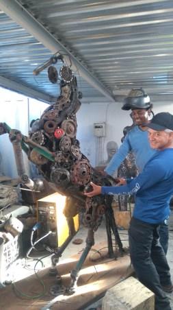 Artist Mambakwedza Mutasa at Harvest Centre