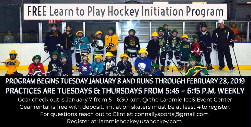 Learn To Play Hockey Program With The Laramie Outlaw Club