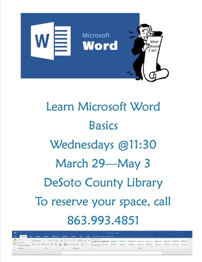DeSoto Library - Learn Microsoft Word Basics