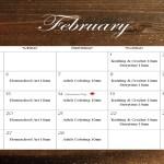 Feb 2018 calendar