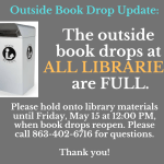 Outside item returns are at capacity for all Highlands County Libraries