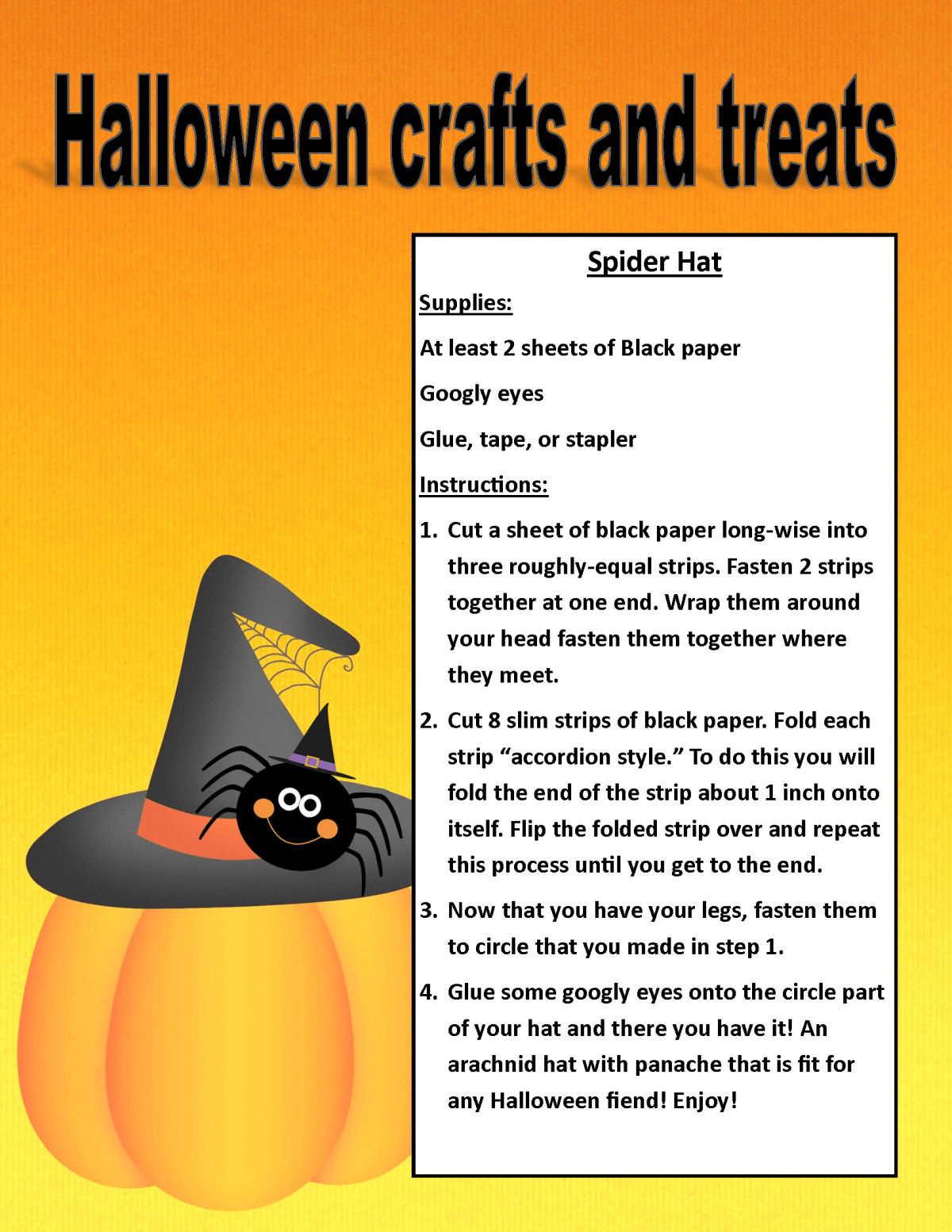 Image of PDF Halloween treat and craft posting (PDF Available for download/printing) Page 7
