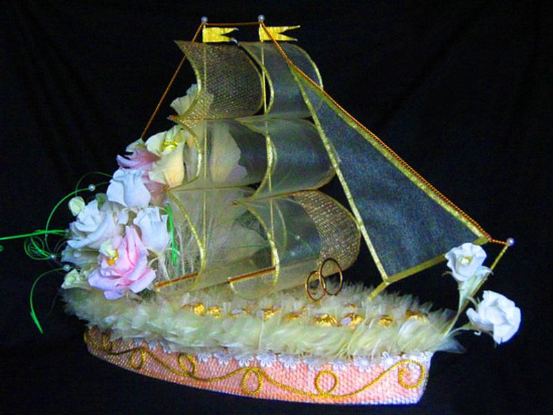 Корабль из конфет своими руками пошаговое фото