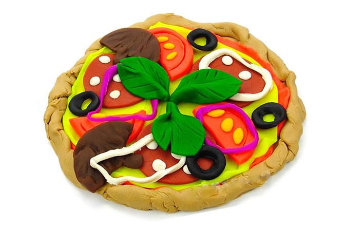 Pizza plasticine cho búp bê