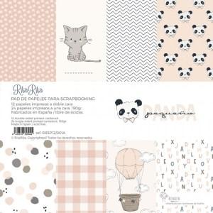 bloc-papeles-panda-rosa - my hobby my art