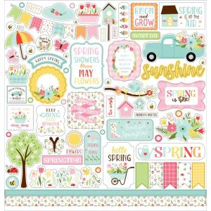 Welcome Spring Cardstock Stickers 12X12- my hobby my art - stickers cardstock 2