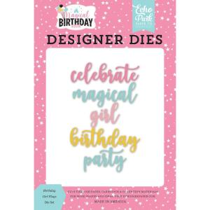 echo park - magic birthday girl - dies-- my hobby my art - stickers cardstock 2