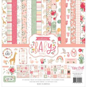echo park - welcome baby - kit -- my hobby my art - stickers cardstock 2