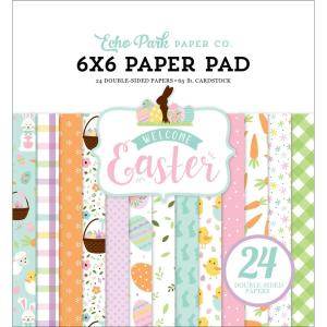 echo park - welcome easter - 6x6 - my hobby my art - stickers cardstock 2