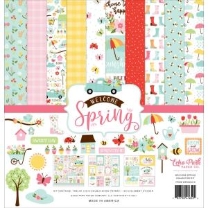echo park - welcome spring - kit -- my hobby my art - stickers cardstock 2