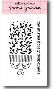 my hobby my art - sami-garra-jane- sellos - clear stamp - libre y despeinada - free and dishveled