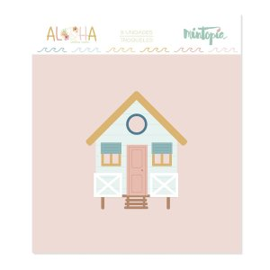 Aloha - Mintopia Studio - Basic Crea - My Hobby My Art - coleccion Aloha - casa de playa - beach house
