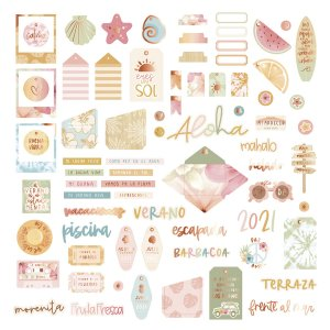Aloha - Mintopia Studio - Basic Crea - My Hobby My Art - coleccion Aloha - die cuts palabras