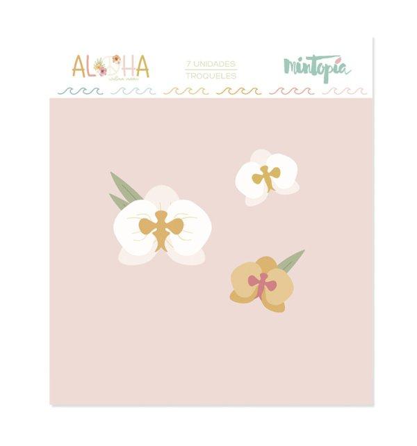 Aloha - Mintopia Studio - Basic Crea - My Hobby My Art - coleccion Aloha - troquel orquidea