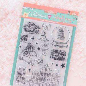 My Hobby My Art - Johanna Rivero - Navidad Rosa - coleccion Navidad - sellos