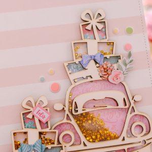 lacres-navidad-rosa-johanna-rivero - my hobby my art -Shaker Coche Navidad Rosa - my hobby my art