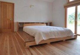 寝室床杉板