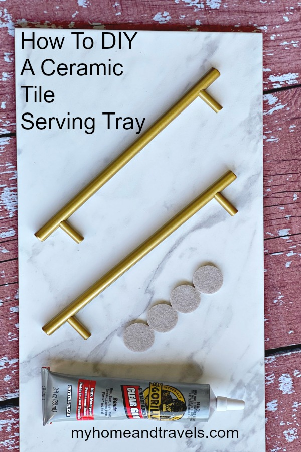 how to diy a ceramic tile serving tray