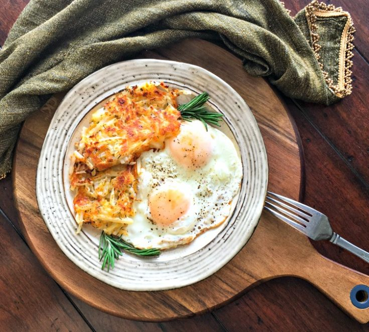Calories per serving of crab hash. Crispy Cheesy Cast Iron Hash Brown Recipe - My Home and ...
