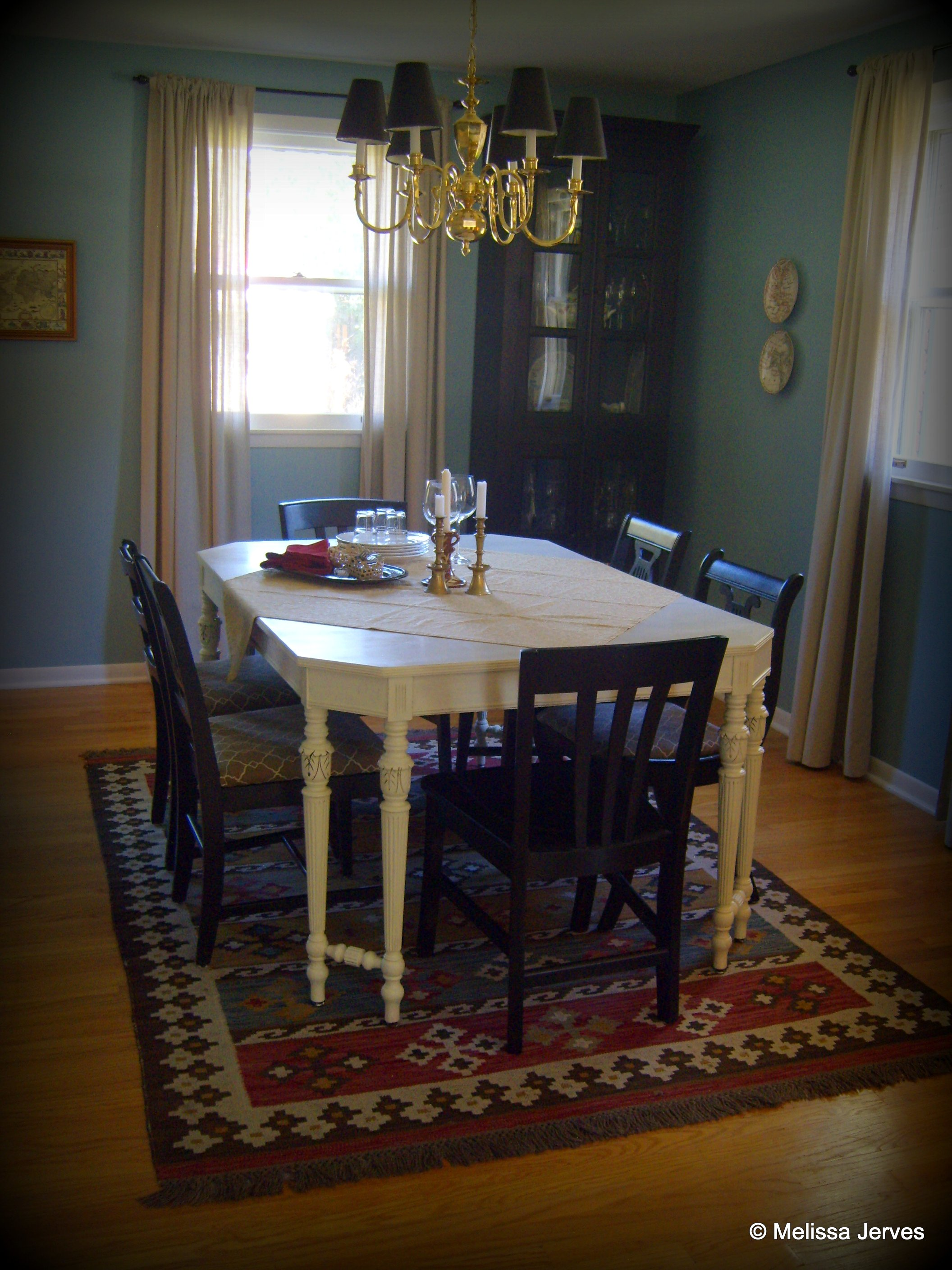 Homemade Chalk Paint A Dining Table Makeover Home Baked