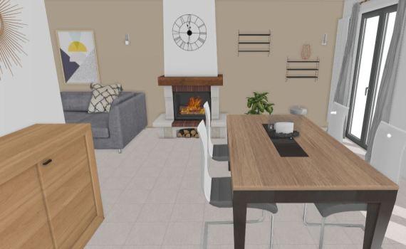 plan 3D salle à manger coaching déco