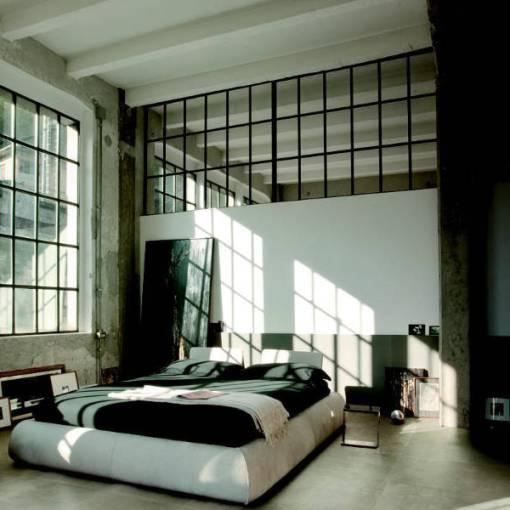 chambre industrielle minimaliste
