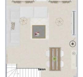 plan 2D salon