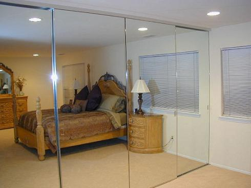bedroom sliding mirror