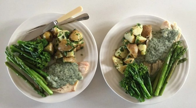 Homemade Parsley sauce recipe with plaice fillets