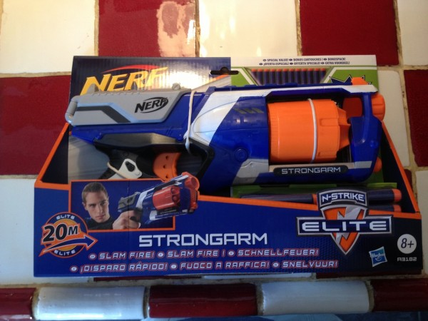 We purchased a small nerf gun to deter the pigeons