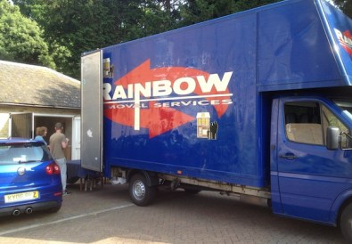 The removal van taking our things to Portugal