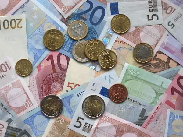 A photo of euros