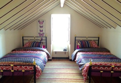 The attic bedroom finished