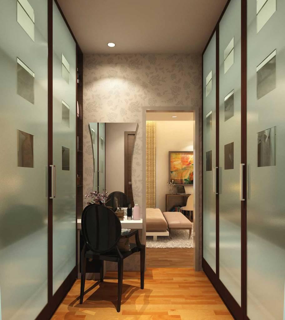 Interior design for narrow places