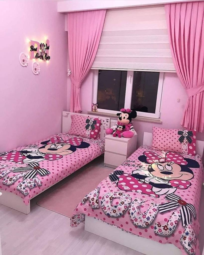 Mickey mouse styled beds room for girls