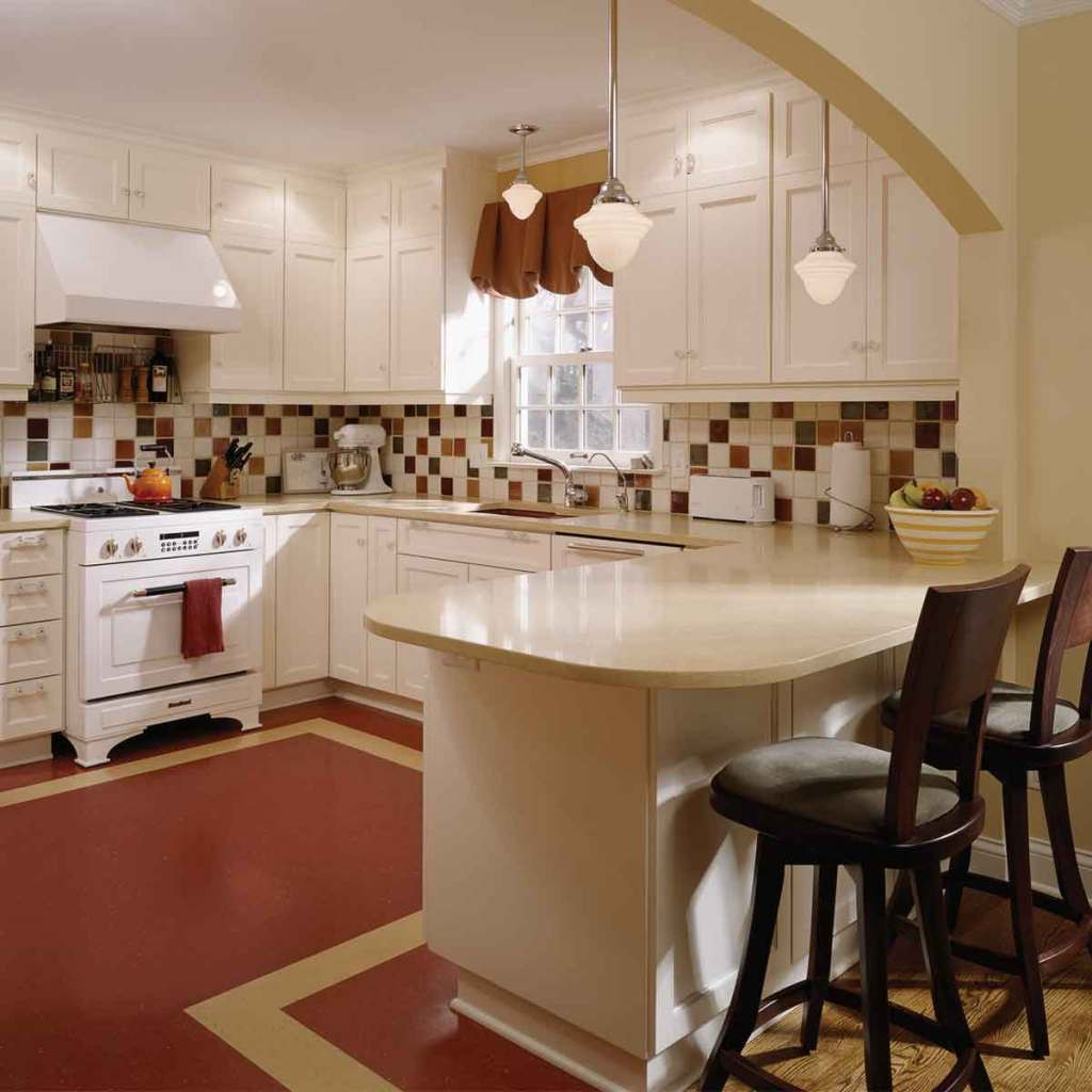 Medium-sized kitchen space for family