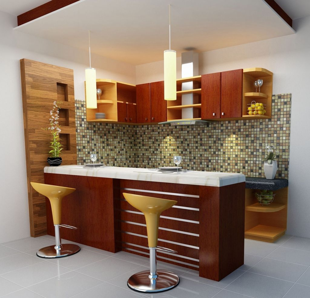 Kitchen mini bar design