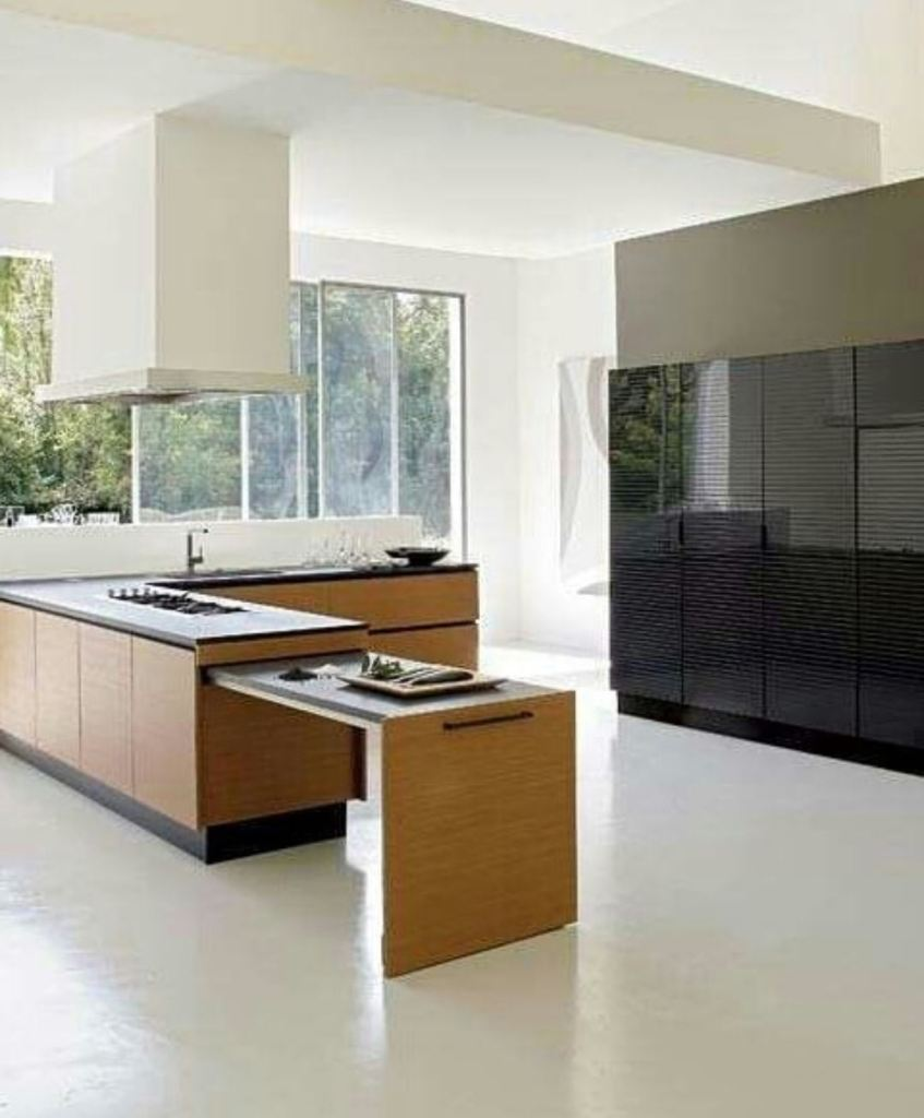Modern kitchen with spaces