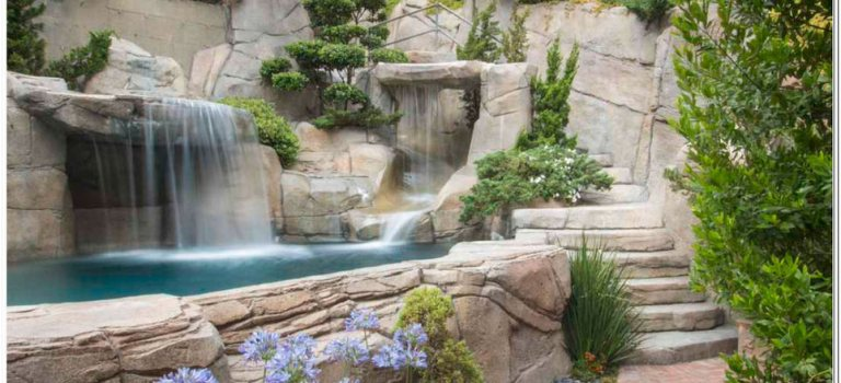 42 Exciting Backyard Waterfall Garden Landscaping Ideas