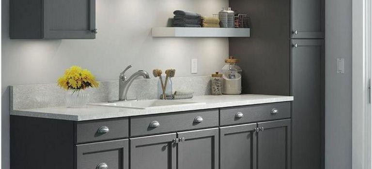 75 Dark Grey Shaker Style Kitchen Ideas