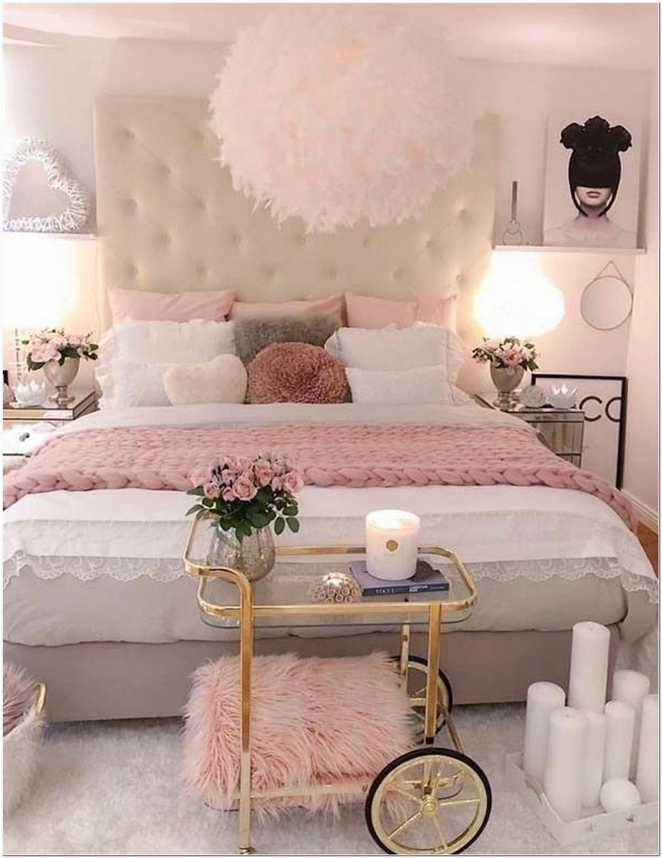 77 Blush Pink Bedroom Wall Decor Ideas That Aren't Too ...
