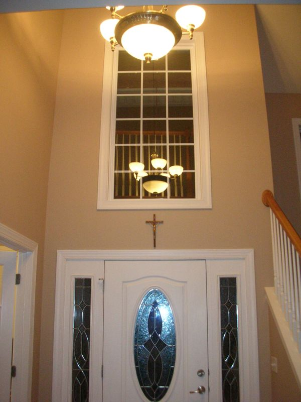My Home Redux Two Story Foyer Window What To Do About