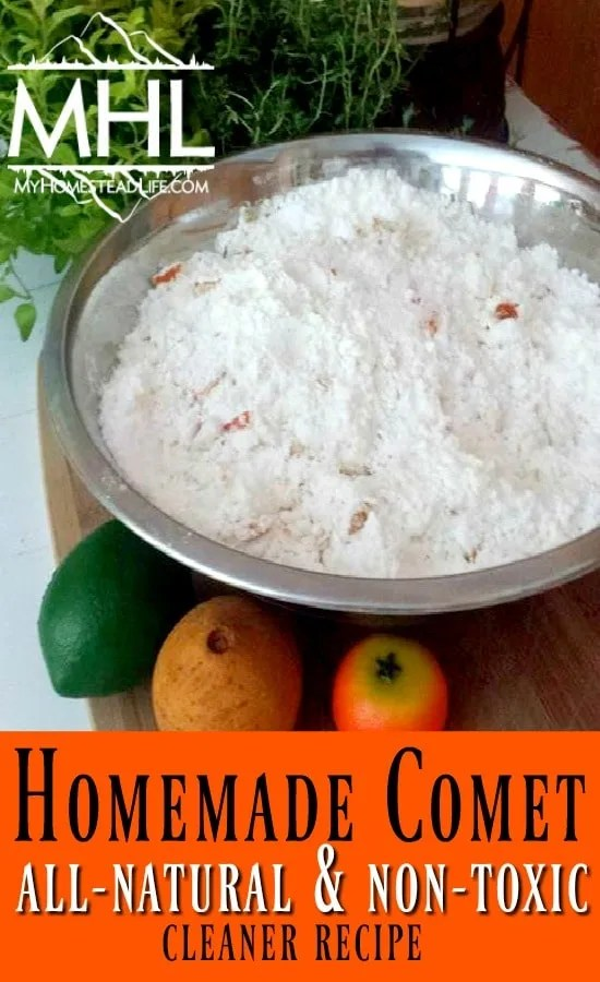 Homemade Comet Recipe- All Natural and Non-Toxic
