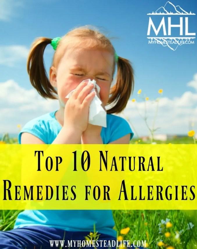 Natural Remedies Allergies Pollen