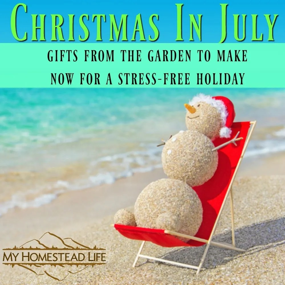 Christmas in July- Gifts from the garden to make now for a stress free holiday