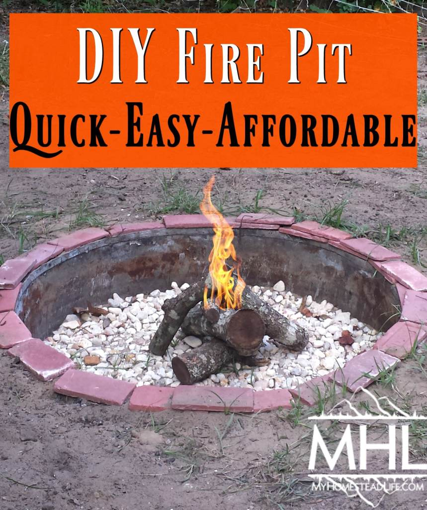 how to make a quick fire pit