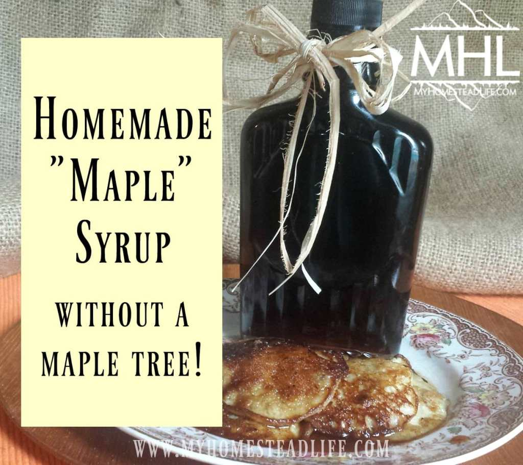 Homemade Maple Syrup- without a maple tree!