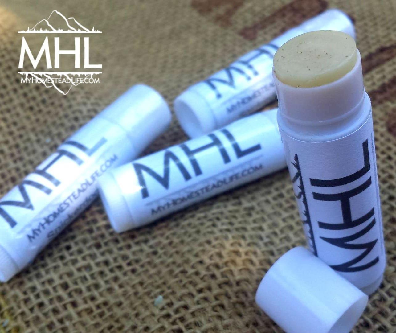 Handcrafted All-Natural Lip Balm by My Homestead Life www.myhomesteadlife.com/shop