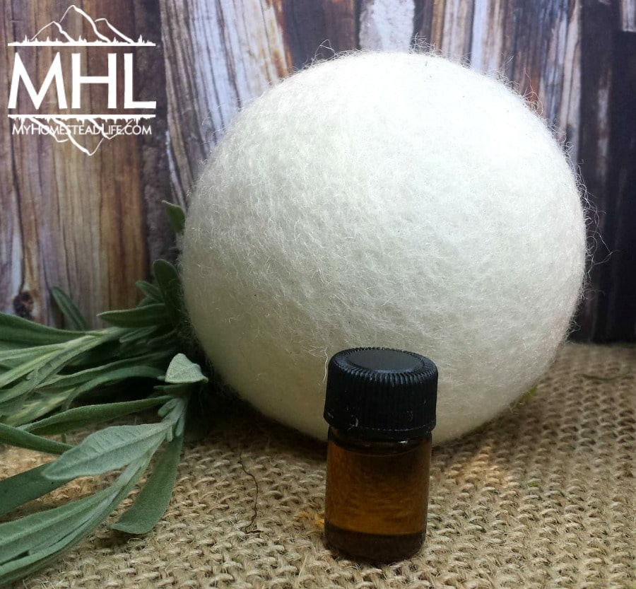 100% Wool All Natural Dryer Ball and Essential Oil by My Homestead Life